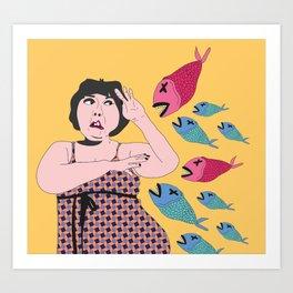 pez koi ataque Art Print