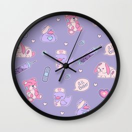 Nurse Ducks - Menhera Design Wall Clock