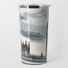 London, Westminster, Big Ben / Vintage style poster Travel Mug