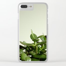 JADE PLANT II Clear iPhone Case