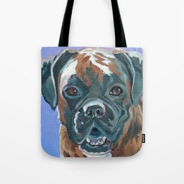 Boone the Boxer Dog Portrait Tote Bag