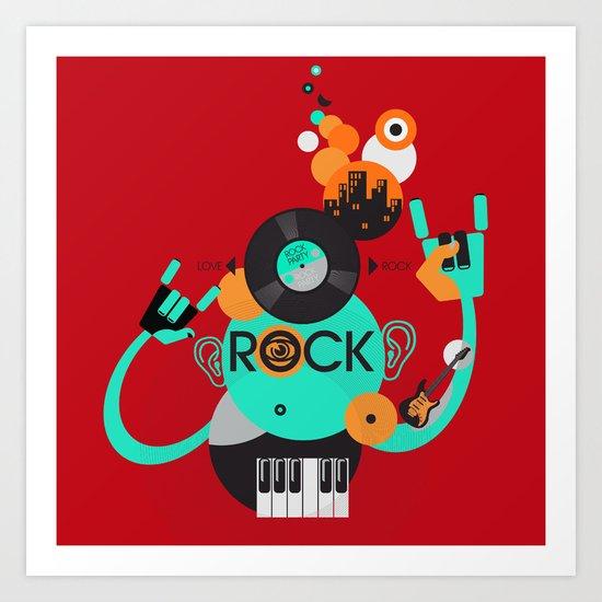 Rock Art Print