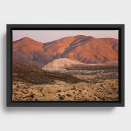 The Pinkest Sunset (Red Rock State Park, California) Framed Canvas