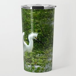 Fancy Dance Egret Travel Mug