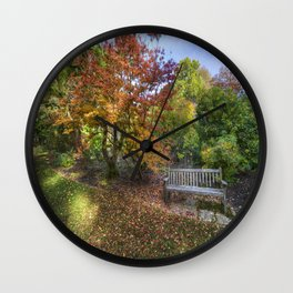 Autumn Bench Wall Clock