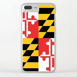 Maryland Flag Clear iPhone Case