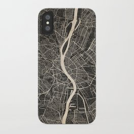 budapest map ink lines iPhone Case