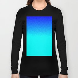 Electric Blue Ombre flames / Light Blue to Dark Blue Long Sleeve T-shirt