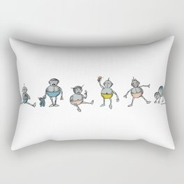 Robot Babies All Rectangular Pillow