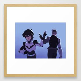 Passing the Baton Framed Art Print