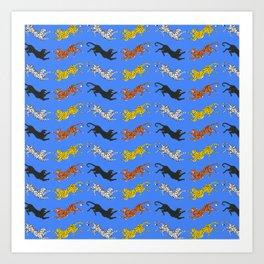 Big Cat Pattern Art Print