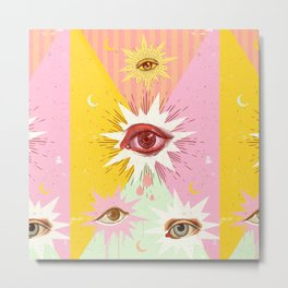 ALL EYES Metal Print