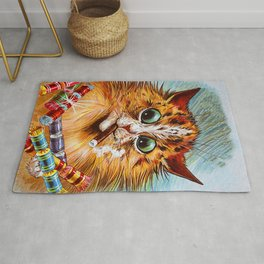 """Louis Wain's Cats """"Tom Smith's Crackers"""" Rug"""
