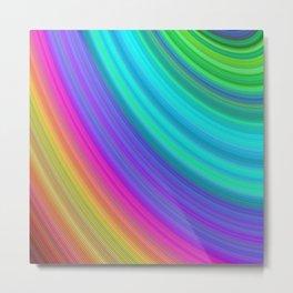 Rainbow Joyful Colors: Fractal Art Happy Design Metal Print