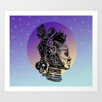 AFRICAN MOON Art Print