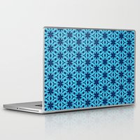 knitting Laptop & iPad Skins featuring blue Knitting by clemm