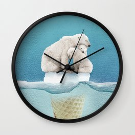 polar ice cream cap 02 Wall Clock