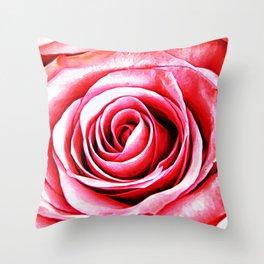 Rose Canvas Throw Pillow