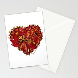 Complicated Heart Stationery Cards