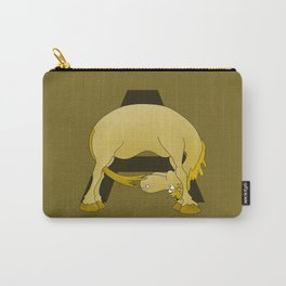Pony Monogram Letter A Carry-All Pouch