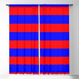 Striped (Classic Blue & Classic Red Pattern) Blackout Curtain