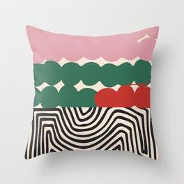 Cloudy Maze Throw Pillow