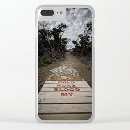 Cold Runs Blood My Clear iPhone Case