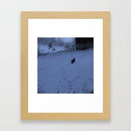 Night hunters Framed Art Print
