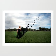 Fly's Away... Art Print
