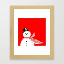 Snowman Framed Art Print