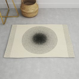 TIME WARP Minimalist Modern and Vintage Illustration Design of Another Outer Space Ship Dimension Rug