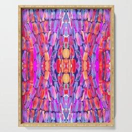 Ultraviolet Purple Sugarcane Pattern Serving Tray