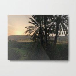 Moroccan Countryside Sunset Metal Print