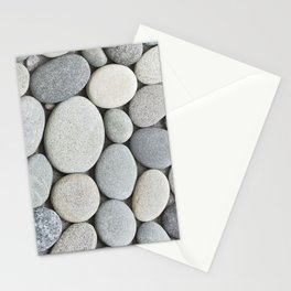 Grey Beige Smooth Pebble Collection Stationery Cards