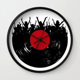 Vinyl record party Wall Clock