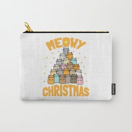 Meowy Christmas | Cat Xmas Tree Decoration Carry-All Pouch