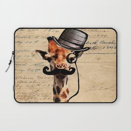 Giraffe Mustache Monocle Tophat Dandy Laptop Sleeve