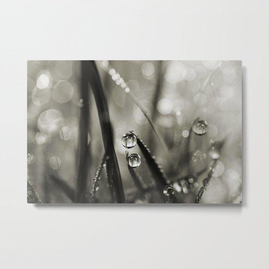 Rain Sparkles Metal Print