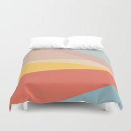 Retro Abstract Geometric Duvet Cover