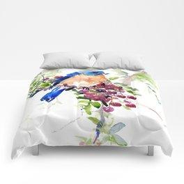 Bluebird and Berries Comforters