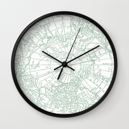 Green Planet Wall Clock