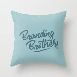 Branding Brothers turquoise Throw Pillow