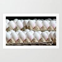 eggs Art Prints featuring EGGS by Avigur