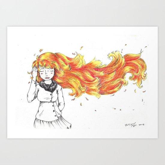 Hair on fire Art Print