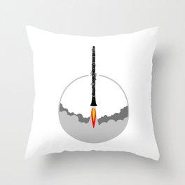 Clarinet Rocket Throw Pillow