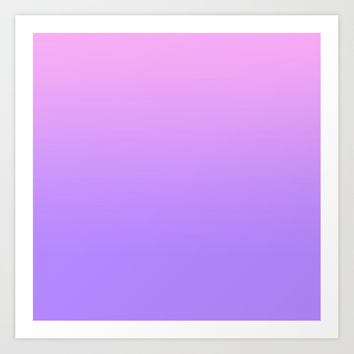Pink Purple Fade Art Print By Nataliesales Society6