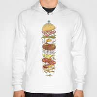 burger Hoodies featuring Burger by Duke.Doks