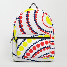 spiral in red and yellow Backpack
