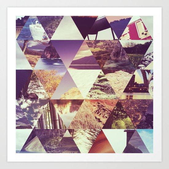 Trianglescape Art Print