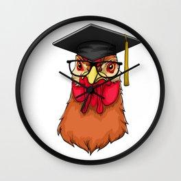 Graduate Chicken Class of 2019 Graduation Wall Clock
